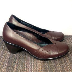Dansko Women's Brown Leather Heels 7